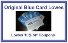 Original Blue Card Lowes Coupon 10% off Exp Jan 31st Home Depot Coupons By Mail