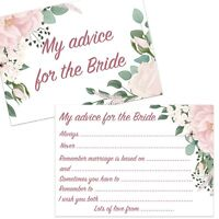 8,16,24,32 ADVICE FOR THE BRIDE CARDS FLORAL HEN NIGHT PARTY KEEPSAKE GAMES