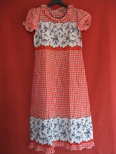 Robe à fleur rouge été Vintage Femme Années 70 Pop BE - 44