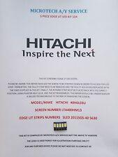 Hitachi 40H6L03U Kit de 5 piezas de borde Iluminado LED 1ZA, LTA400HM13, 2011SGS-40 5630 Trineo