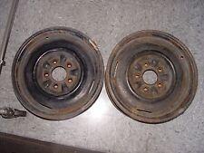 65 66 Corvette Wheels Original Pair 15 X 5 1/2 JK Stamp Steel Rims Dted 2 66