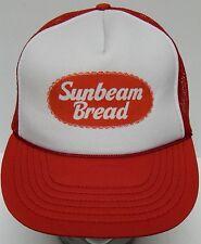 Vtg 1980s SUNBEAM BREAD Rolls Baked Goods ADVERTISING Red Snapback Trucker Hat