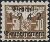 Stamp Germany Revenue Poland WWII 1942 3rd Reich War Era Party Due GG 00530 MNH