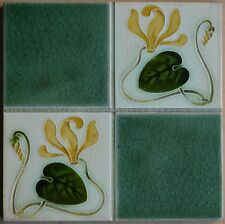 ANTIQUE PILKINGTON'S ENGLAND - ART NOUVEAU MAJOLICA TILE C1900