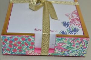 NEW SEALED BOX Lilly Pulitzer LACQUER TRAY & ADDITIONAL NOTEPAD Tiki Pink Gypsea