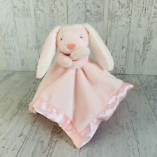 Carters Pink Bunny Baby Blanket Plush Satin Baby Security Lovey Toy