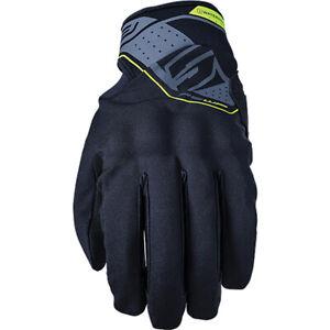 FIVE RS WP Black/Fluro Motorcycle Waterproof Glove Size X-Large GFRSW0076
