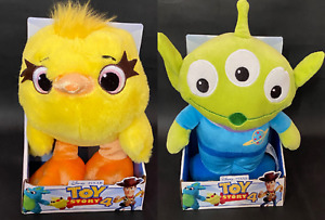 """DISNEY TOY STORY 4 SOFT TOYS - DUCKY OR ALIEN 10"""" (25CM)  BOXED, LICENCED, NEW"""