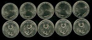2020-W V75 PRIVY MARK AMERICAN SAMOA QUARTER 10 COINS 1/4 ROLL GEM BU RARE *