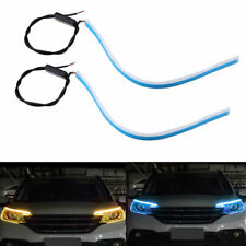 2PCS Switchback LED Strip Daytime Running Light DRL Sequential Flow Fog Lamp