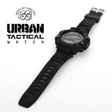 IGGI 042 Urban Tactical Reloj con patrón de camuflaje de Combate Negro-Nuevo