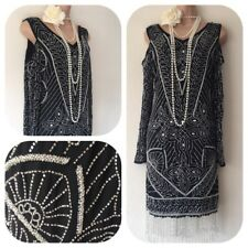 NWT Frock & Frill Sequin Beaded Embellished Dress 20's Gatsby Flapper 12 £150
