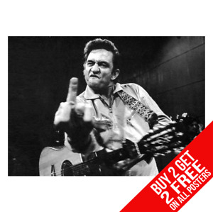 JOHNNY CASH POSTER PHOTO WALL ART PRINT A4 A3 SIZE - BUY 2 GET ANY 2 FREE