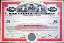 1985 $5000 Bond Certificate: 'Mack Financial Corporation' - Car/Truck, Red