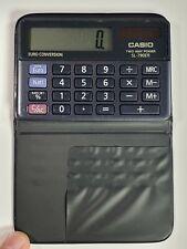 RARE Casio SL-790ER calculator Solar + Battery 8 Digit Euro Convertion