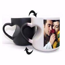 Personalized Magic Photo Mug FULL Heart Handle - Customize with Photos & Text