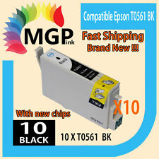 10x Black only generic ink cartridge T0561 for Epson R250 RX430 RX530