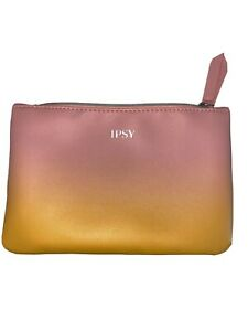 NEW Ipsy Pink & Yellow Ombre Cosmetic Makeup Bag Only FREE US SHIPPING