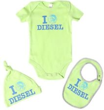 NIB DIESEL BABY BOY 18 Months  3 PIECE SET BODYSUIT/HAT/BIB BOX-LIME NEON L@@K!