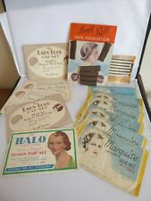 COLLECTION OF VINTAGE 12 HAIRNETS, HAIR FOUNDATIONS AND CLIPS