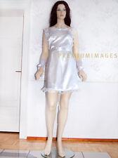 Grembiule patta grembiule bianco per Cameriera Maid Sissy cameriera Satin