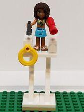 Lego Andrea Mini doll Lifeguard Stand  Megaphone Binoculars Buoy