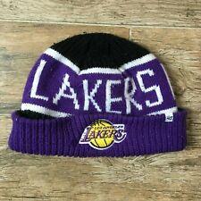 f280ae8b6d2 Los Angeles Lakers  47 Brand Skull Cap Winter Cuff Knit Hat Hardwood  Classics