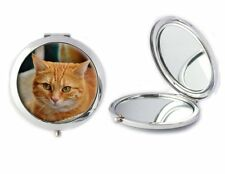 Ginger Cat Compact Mirror Ideal Ladies Birthday Mothers Day Gift T42