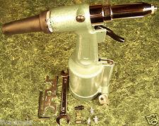 "Air Rivet Gun Big 1/4"" Heavy Duty Riveter Jumbo 2,500 lb. Steel Rivets New"