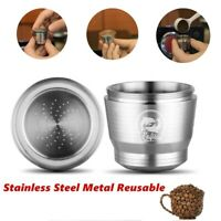 Reusable Refillable Stainless Steel Metal Coffee Capsule Cup Pod for Nespresso