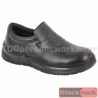 Nurses Food Hygiene Catering Medical Black Safety Work Slip On Shoes Steel Toe