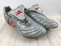 Adidas Predator Pulse SG UK 7.5 Football Boots Silver & Red 2004 Beckham Leather