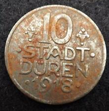 1918 Germany Stadt Duren 10 Pfennig Coin - WWI.