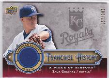 2009 UD A Piece Of History ZACK GREINKE JERSEY CARD! ROYALS! DIAMONDBACKS! JM