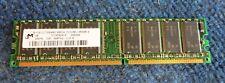 Micron MT8VDD3264AG-265C4 DDR1 SDRAM 256MB PC2100U 184 Pin DIMM CL2.5 RAM Memory