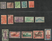 India Sc#207-12, 214-22, Used/VF, Partial Set, ex. 213, Cv. $53.10