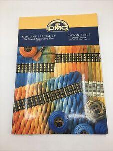 DMC Creative World  Color Card Sampler  w/ Cotton Thread Framed Advertising