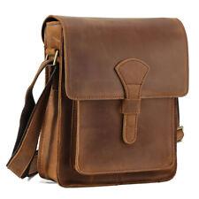 Vintage Men Leather Shoulder School Satchel Cross Body Sling Messenger iPad Bag