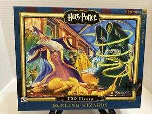 MARY GRANDPRE Harry Potter Dueling Wizards 750 Piece Jigsaw Puzzle 🧩 EUC