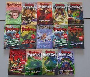 GOOSEBUMPS books bundle x14 R.L STINE, some vintage some HORRORLAND
