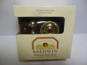 NEW Baldwin Mystic Premium Robe Hook # 3565 - 030 Polished Brass