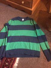 Gap Merino Wool Blend Jumper Blue Grewn Stripe Pre Loved! Size Small Unisex