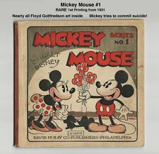 MICKEY MOUSE #1 - VERY RARE - 1931 COMPLETE - MICKEY TRIES TO COMMIT SUICIDE!