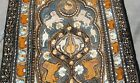 RARE large Silk Vintage Indian / Persian tapestry embroidery, tigers birds cats