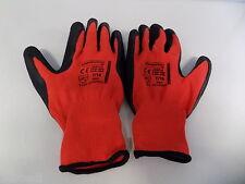 Gants Nylon Rouge avec Moufle Latex Travail Construction, Agriculture Taille 10