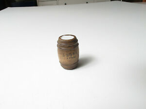 Island Craft Dollhouse Miniatures **Wooden Barrel of Sugar* Food Kitchen Vintage