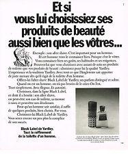 PUBLICITE ADVERTISING 084  1977   YARDLEY   BLACK LABEL  after-shave savon homme