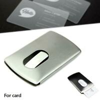 Business Name Credit ID Card Holder Box Metal Stainless Steel Pocket Box Case DI