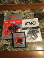 Atari 2600 RealSports Football Game Cartridge With Box And Booklet
