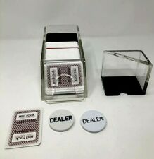 Poker & Casino Supplies Deck Blackjack Shoe and Discard Tray and cards